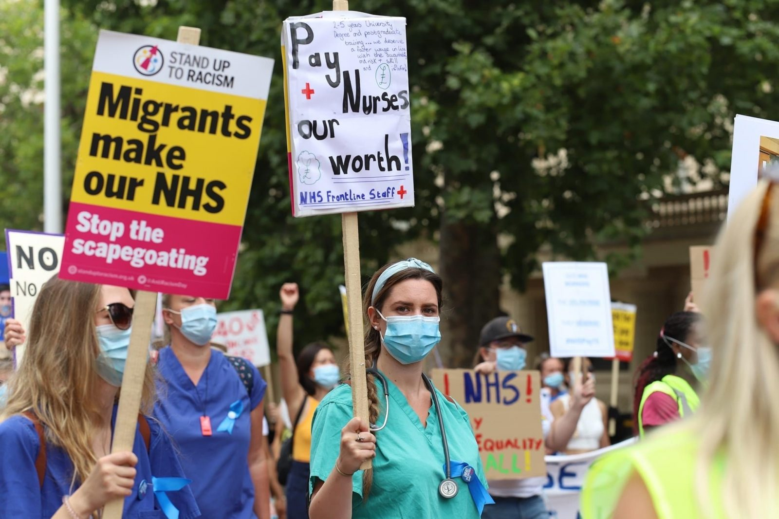 Salary increase for NHS staff more than the proposed 1%